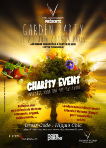 Garden Party Charity Event Vita Association Flyer